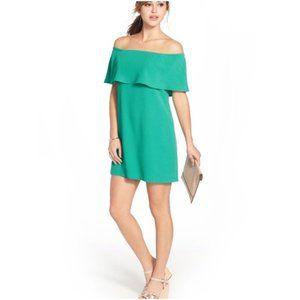 Charles Henry Off The Shoulder Green Dress M